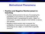 motivational phenomena23