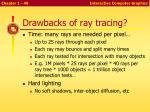 drawbacks of ray tracing