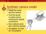 synthetic camera model