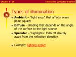 types of illumination