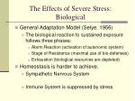 the effects of severe stress biological