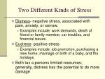 two different kinds of stress