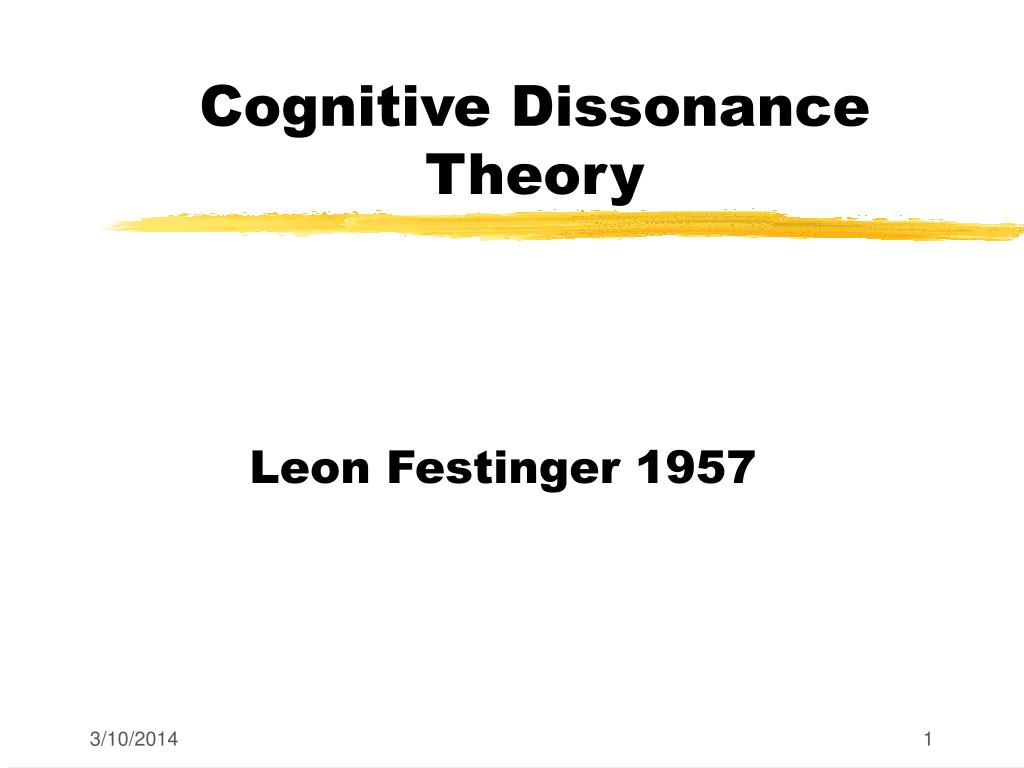 cognitive dissonance theory l.