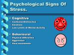 psychological signs of stress
