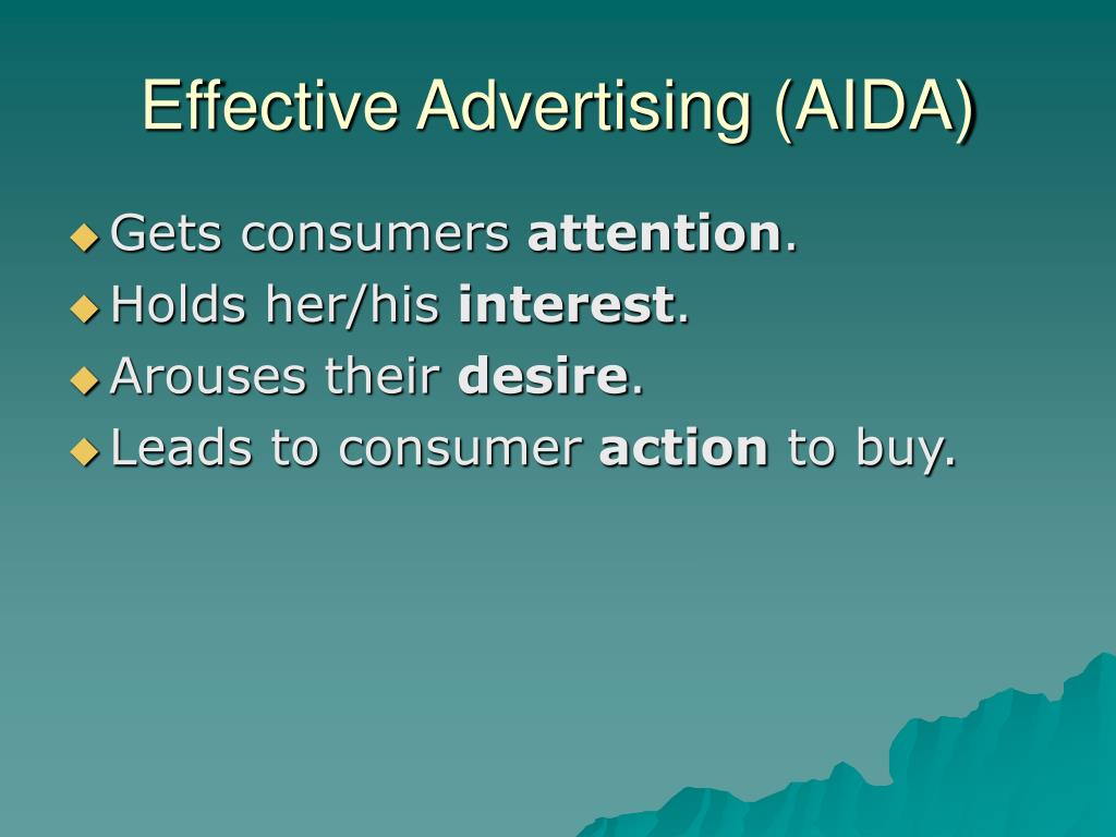 Effective Advertising (AIDA)