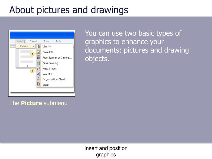 About pictures and drawings