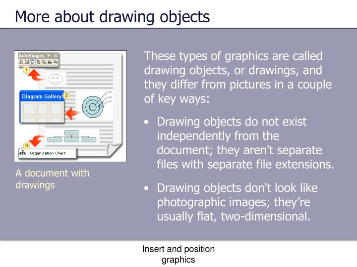 More about drawing objects