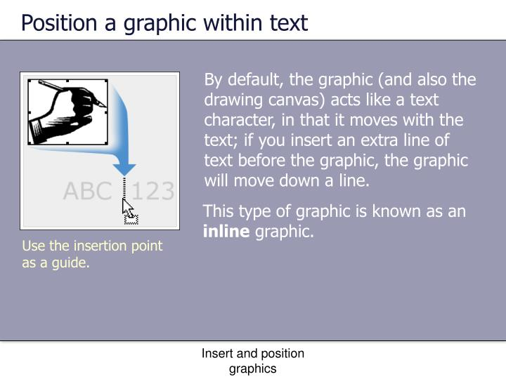 Position a graphic within text