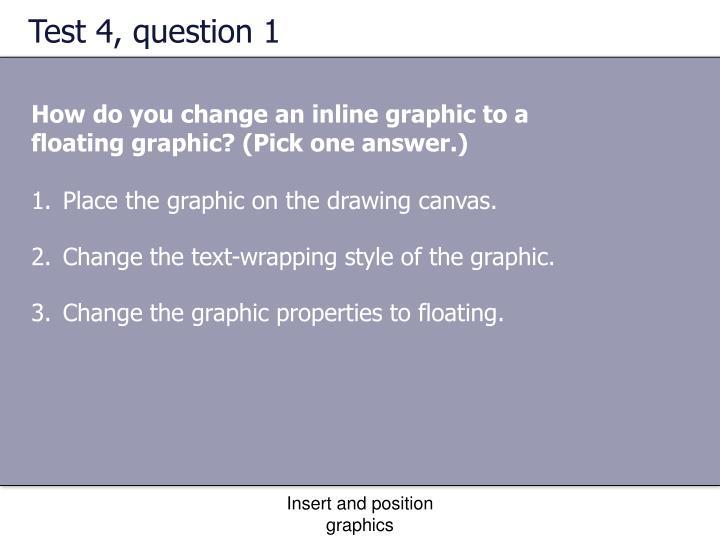 Test 4, question 1