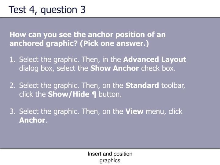 Test 4, question 3