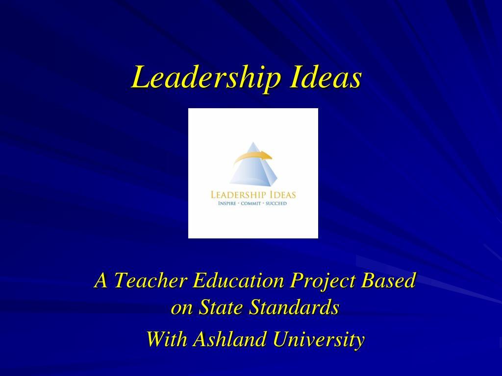 leadership ideas l.