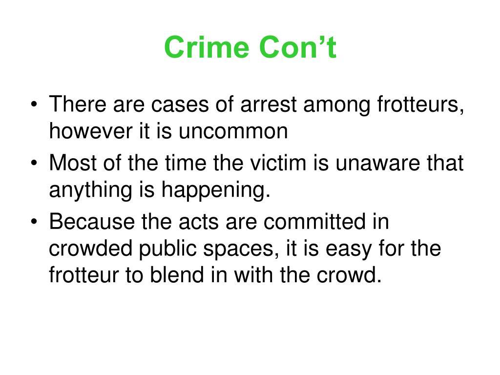 Crime Con't