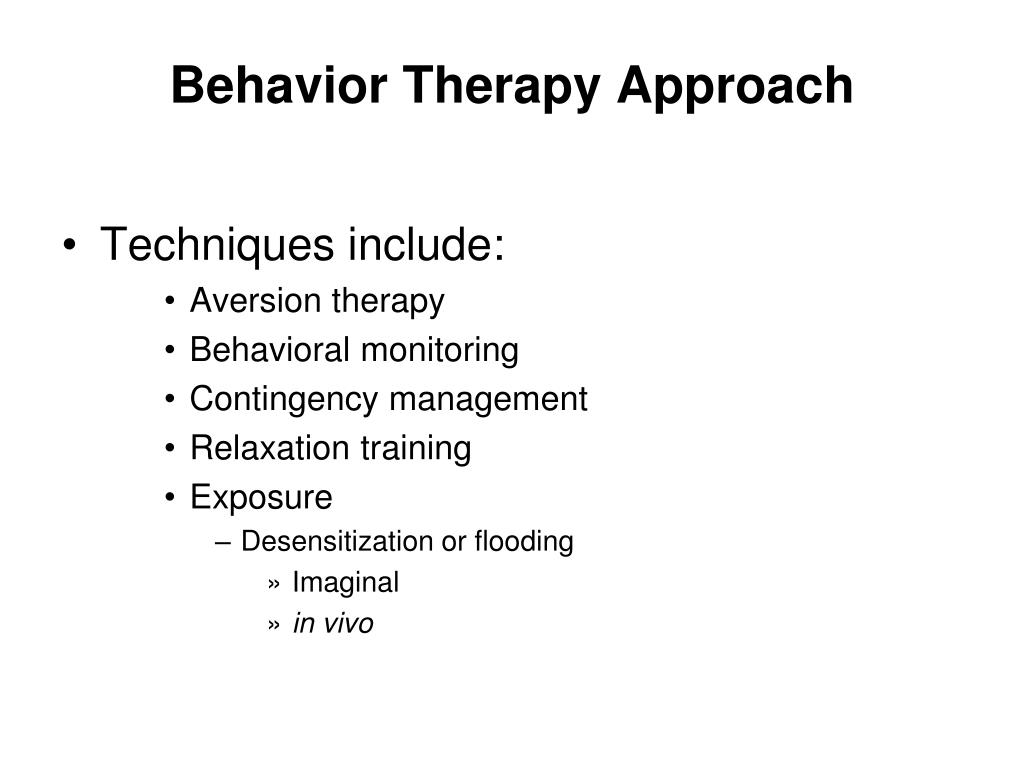 Behavior Therapy Approach
