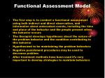 functional assessment model