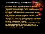 multimodal therapy clinical behavior therapy