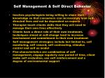 self management self direct behavior