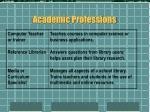 academic professions