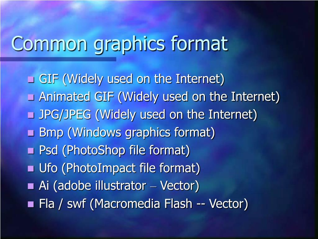 Common graphics format