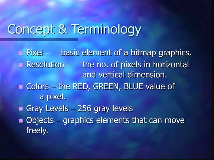 Concept terminology