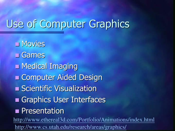 Use of computer graphics