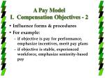 a pay model i compensation objectives 2