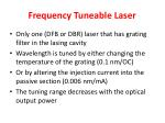 frequency tuneable laser
