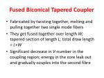 fused biconical tapered coupler