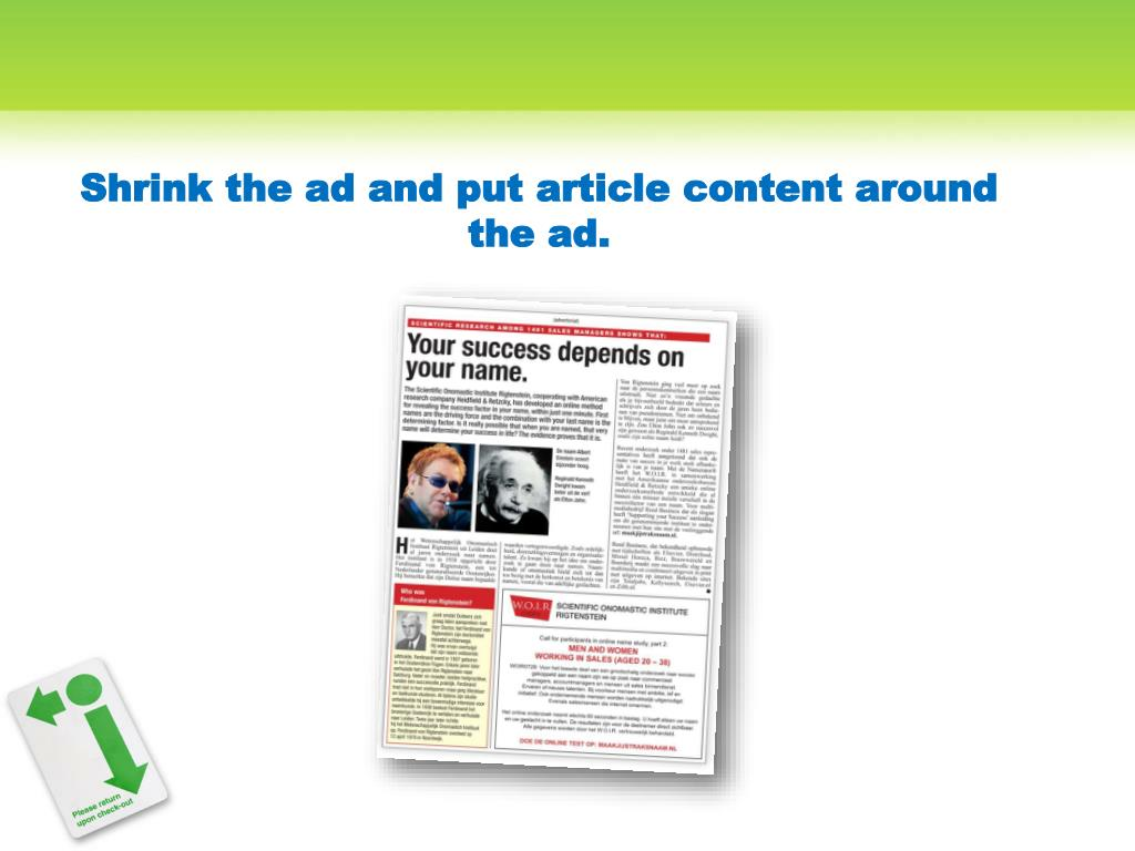 Shrink the ad and put article content around the
