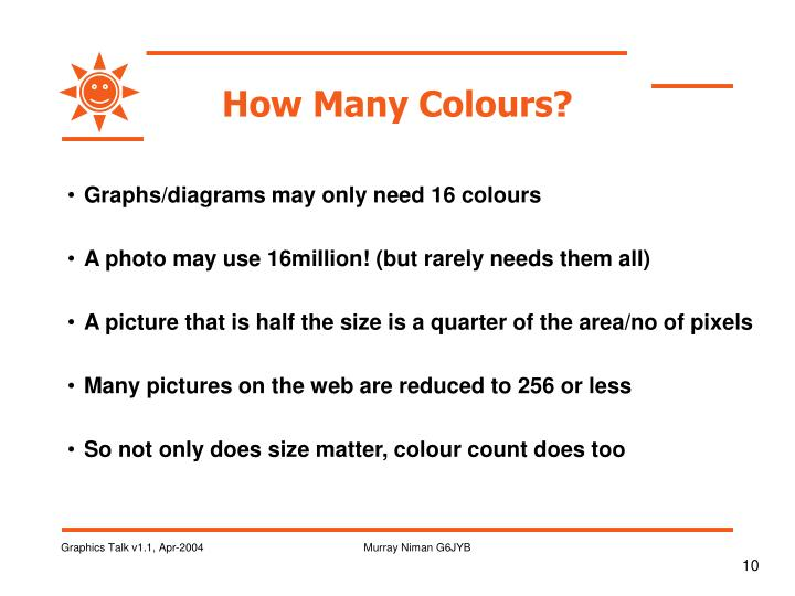 How Many Colours?
