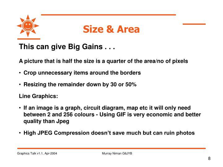 Size & Area