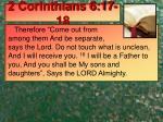 2 corinthians 6 17 18