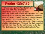 psalm 139 7 12
