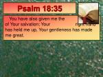 psalm 18 35