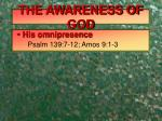 the awareness of god1