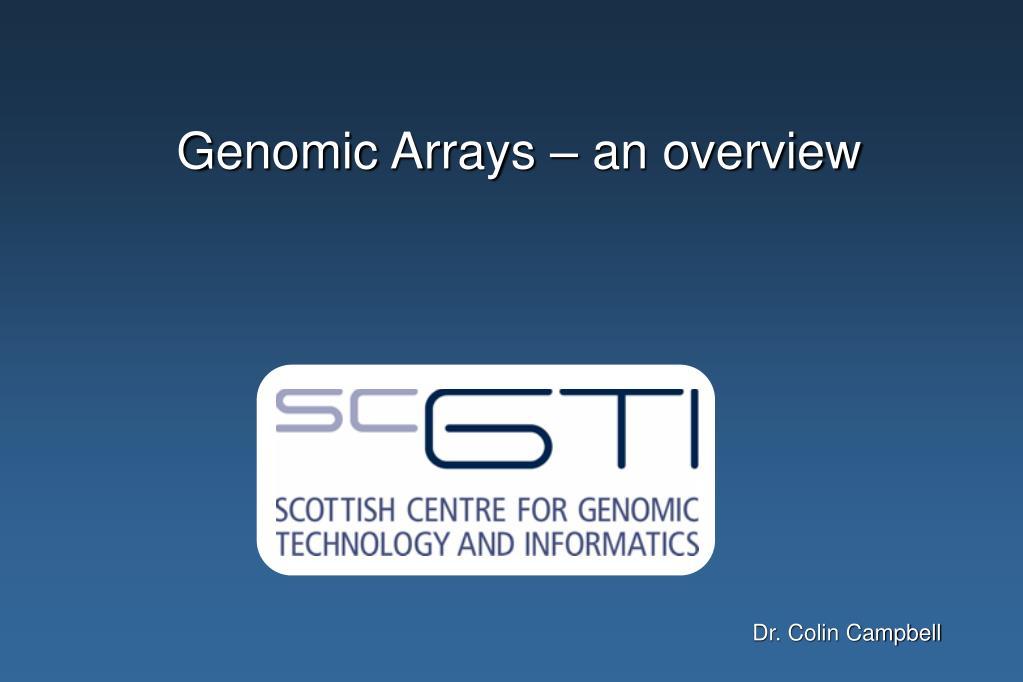 genomic arrays an overview l.