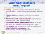 what ceat members need request