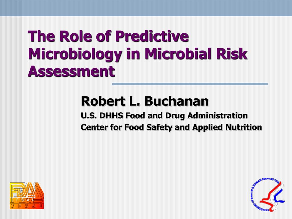 the role of predictive microbiology in microbial risk assessment l.