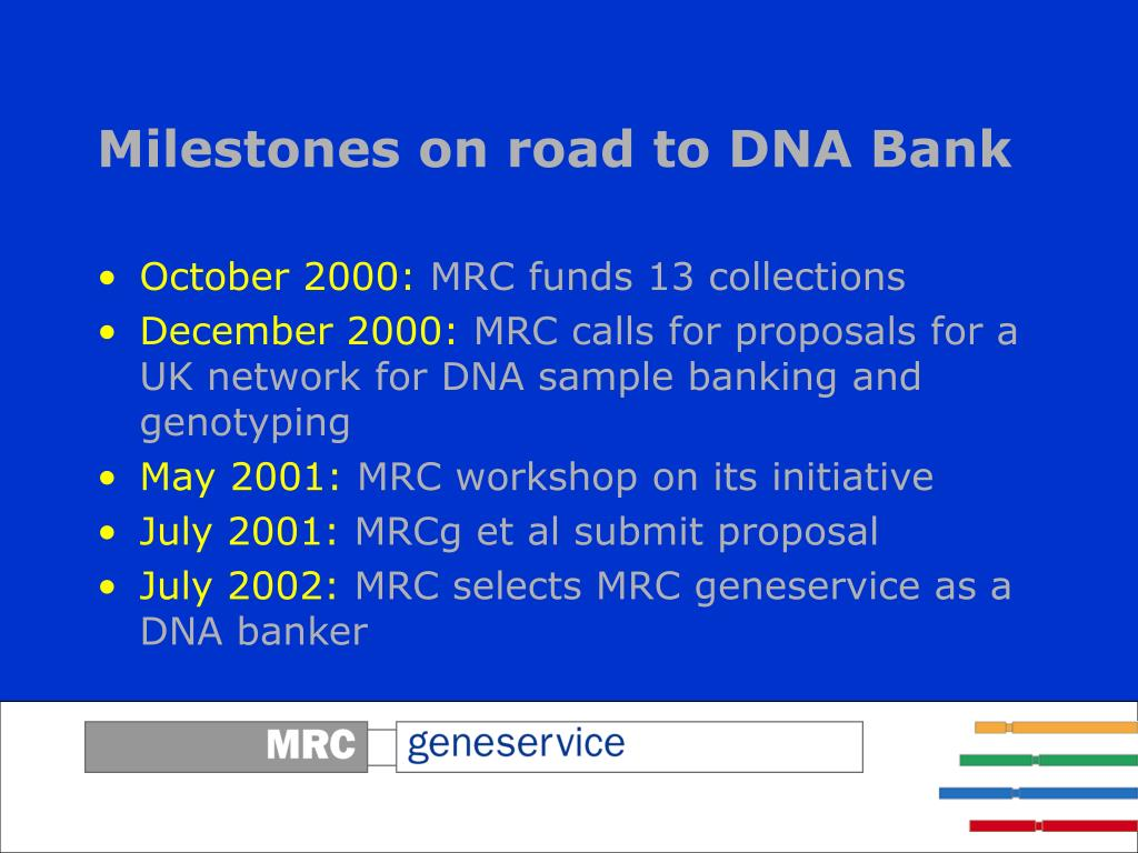 Milestones on road to DNA Bank