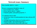 network issues summary