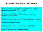pmr sa new research problems