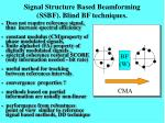 signal structure based beamforming ssbf blind bf techniques