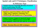 spatial only and s t techniques classification by reference type