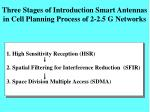 three stages of introduction smart antennas in cell planning process of 2 2 5 g networks