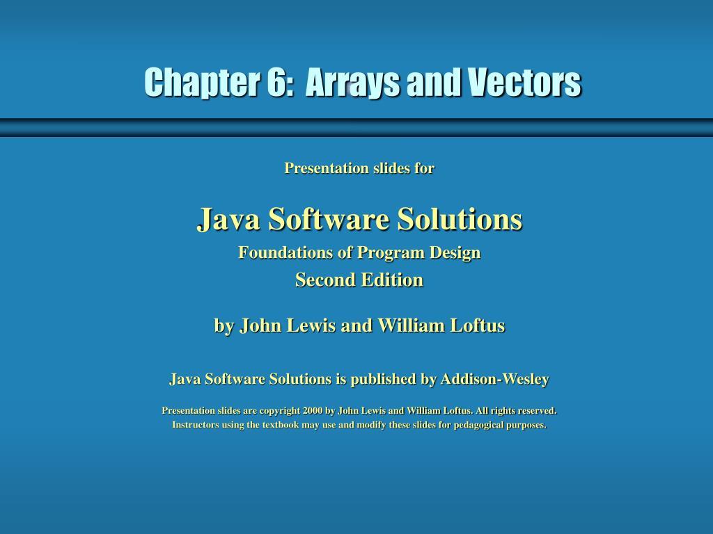 chapter 6 arrays and vectors l.