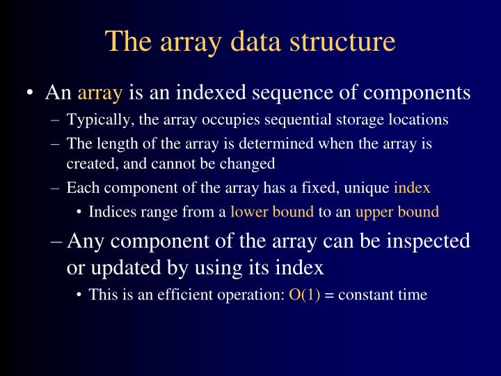 The array data structure