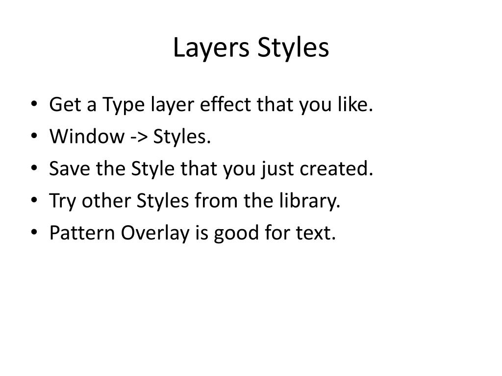 Layers Styles