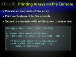 printing arrays on the console