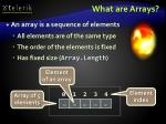 what are arrays