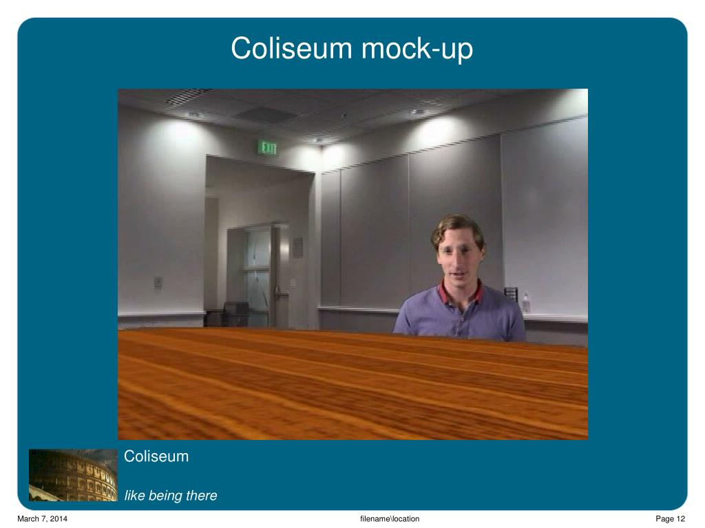 Coliseum mock-up