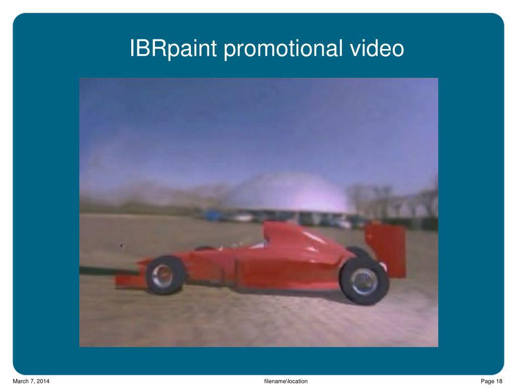 IBRpaint promotional video